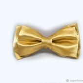Галстук-бабочка золотой атласный