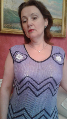 "Сарафан женский вязаный ""Хамелеон"" ручной работы на заказ"