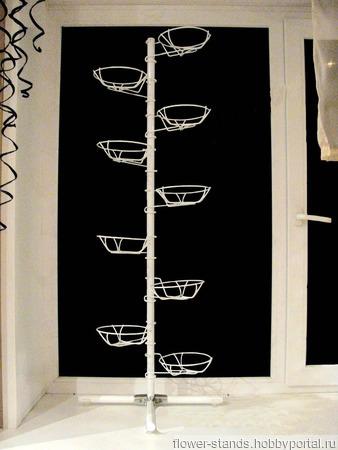 Наоконная подставка  на 9 горшков ручной работы на заказ