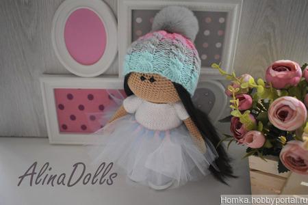 Вязаная куколка 20 см ручной работы на заказ