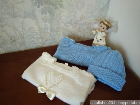 Комплект для малышки кофточка и пинетки ручной работы на заказ
