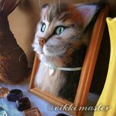 Портреты животных из шерсти ручной работы