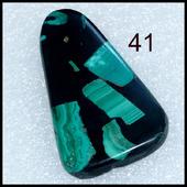 Мозаика Малахитовая - кабошон -   натуральный камень