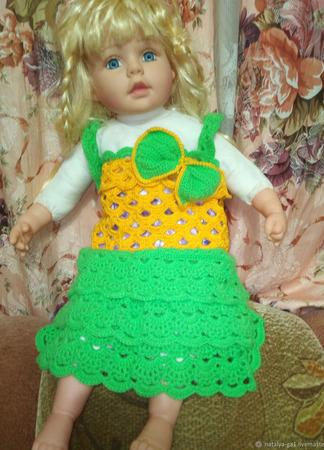 Платье на маленькую модницу ручной работы на заказ