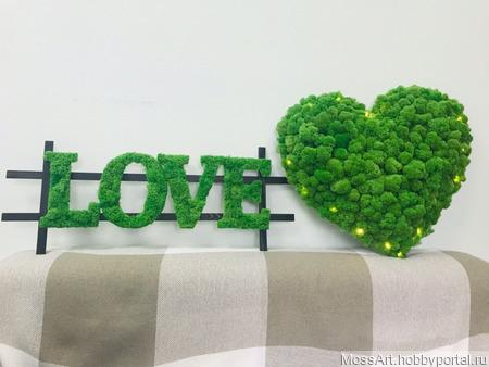 Интерьерные буквы LOVE ручной работы на заказ