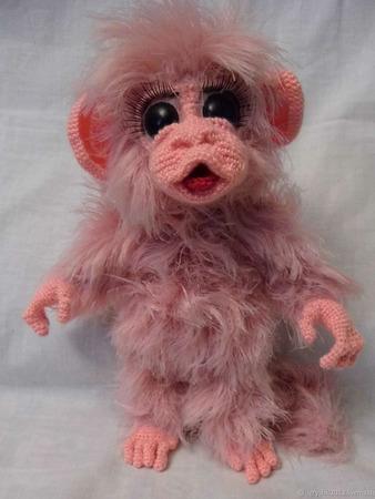 Игрушка обезьянка Мики ручной работы на заказ