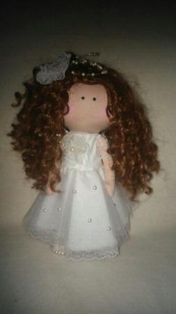 Интерьерная кукла невеста ручной работы на заказ