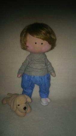 Интерьерная кукла мальчик ручной работы на заказ