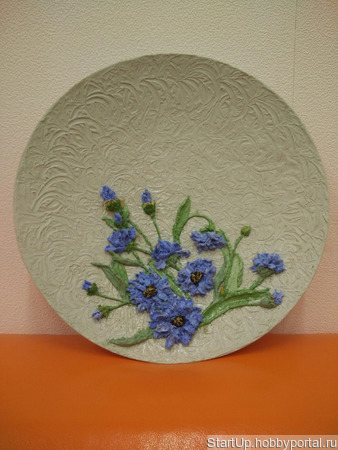 Декоративная тарелка ручной работы на заказ