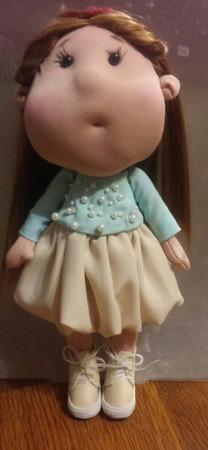 Интерьерная кукла щекастик ручной работы на заказ