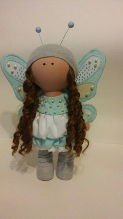 Интерьерная кукла бабочка ручной работы на заказ