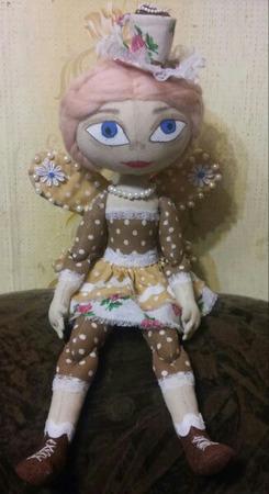 Интерьерная кукла Кофейная Фея ручной работы на заказ