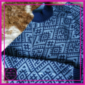 Мужской свитер реглан, с двухсторонним жаккардом