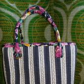Текстильная сумка в полоску