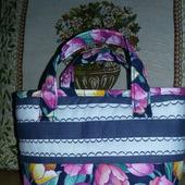 Дорожная косметичка-сумочка из хлопка