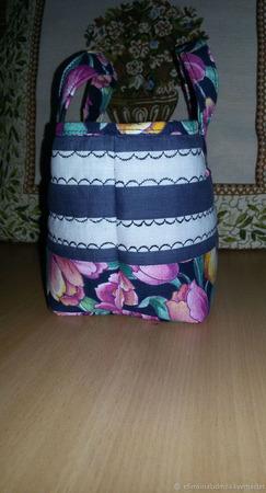Дорожная косметичка-сумочка из хлопка ручной работы на заказ