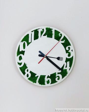 """Часы кухонные """"Bon Apettit"""" ручной работы на заказ"""
