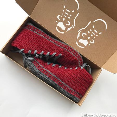 Носки-кеды ручной работы на заказ