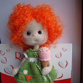 Кукла вязаная Кнопка