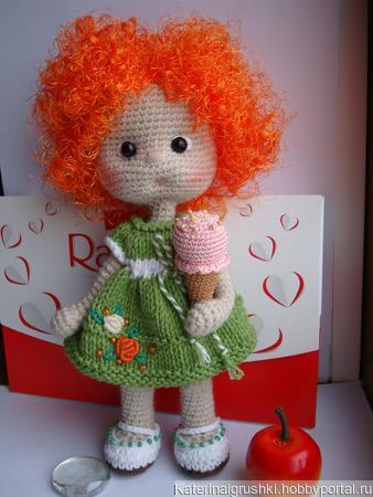 Кукла вязаная Кнопка ручной работы на заказ