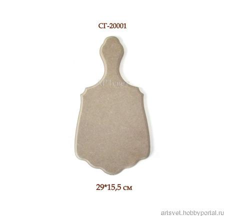 001 Досочка декоративная или подставка под горячее. Заготовки для декупажа ручной работы на заказ