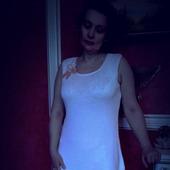 """Платье белое женское, связанное спицами """"Классика"""""""