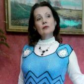 """Платье зимнее, вязаное крючком """"Васильковая нежность"""""""