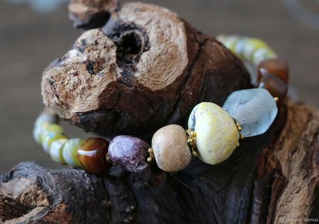 Браслет «Весенние акварели» ручной работы на заказ