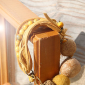 Объемный браслет из натуральных материалов «Охра»