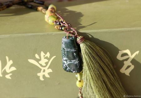 Колье «Бамбук» ручной работы на заказ