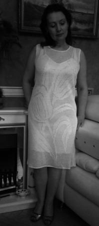 """Платье женское вязаное """"Тюльпаны"""" ручной работы на заказ"""