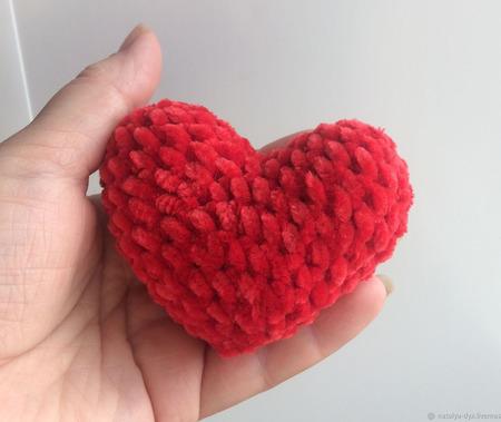 Плюшевое Сердце ручной работы на заказ