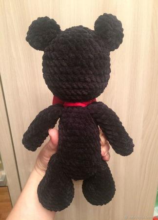 Вязаная игрушка Мишка Черныш ручной работы на заказ