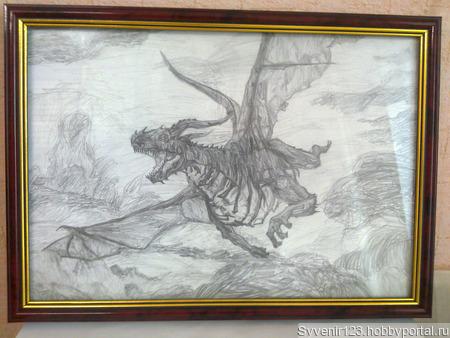 """Картина """"Дракон"""" ручной работы на заказ"""