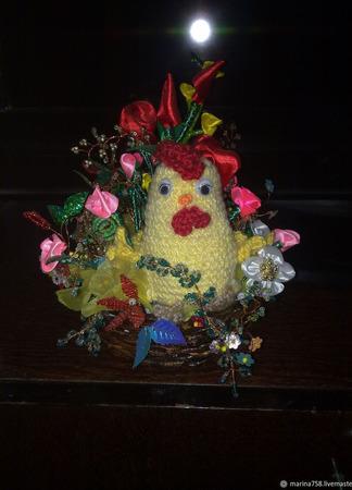 Корзинка  пасхальная праздничная ручной работы на заказ