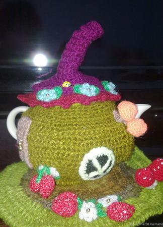 Грелка на чайник Пасхальная курочка ручной работы на заказ