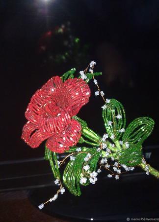 Цветы из бисера ручной работы на заказ