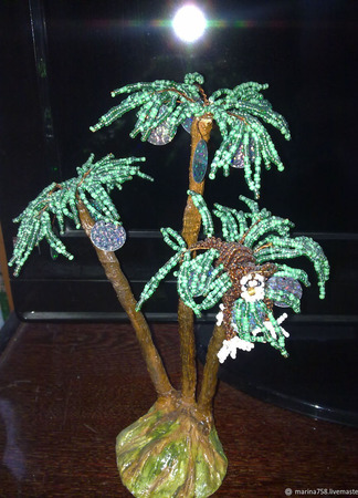 Деревья из бисера ручной работы на заказ