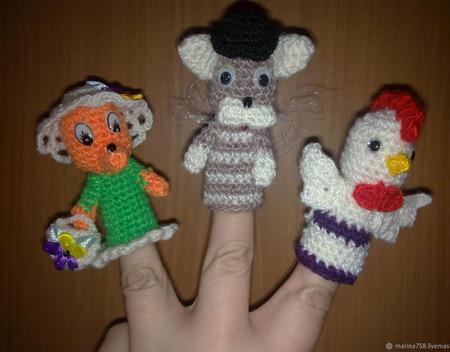 Кукольный пальчиковый театр ручной работы на заказ