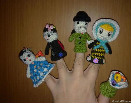 """Кукольный пальчиковый театр """"Муха Цокотуха"""" ручной работы на заказ"""