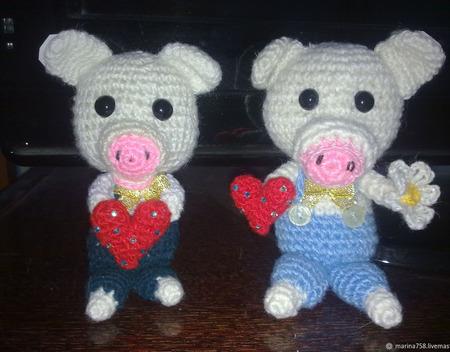 Свинка Нюша и Пятачок ручной работы на заказ