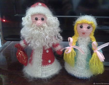 Дед мороз и снегурочка ручной работы на заказ