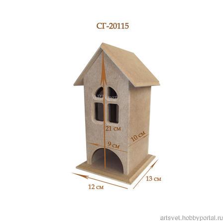 115 Чайный домик с окошком. Заготовки для декупажа ручной работы на заказ