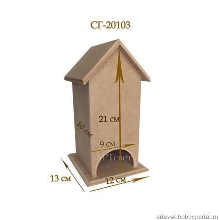 103  Чайный домик без окошек. Заготовки для декупажа ручной работы на заказ
