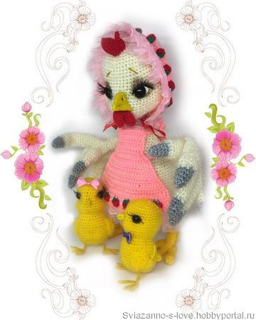 Курочка с цыплятами ручной работы на заказ