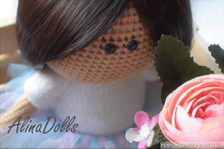 Мастер-класс по вязаной куколке 20 см ручной работы на заказ