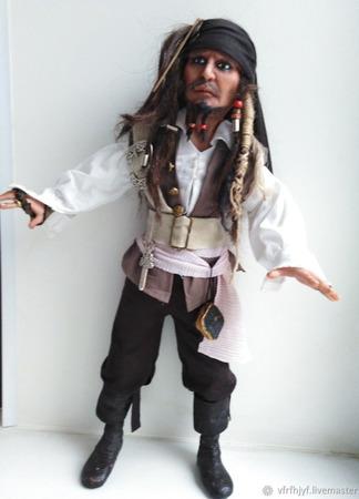 Кукла Джек Воробей ручной работы на заказ
