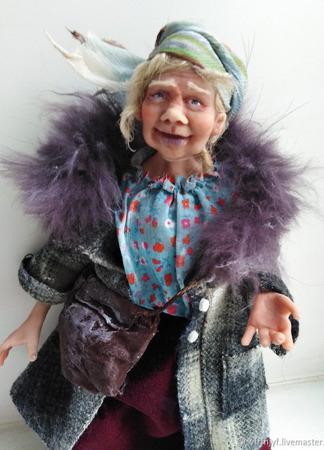 Коллекционная кукла Тетя Софа ручной работы на заказ