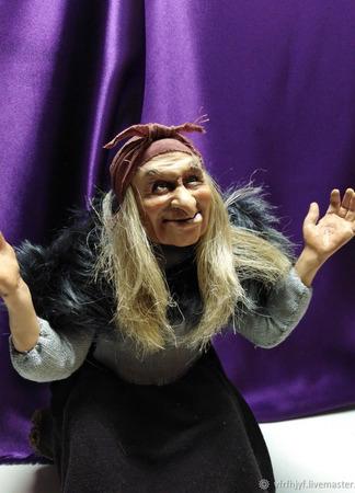 Коллекционная кукла Баба-Яга ручной работы на заказ