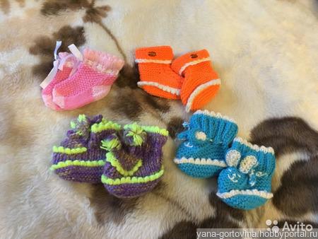 Пинетки и носочки для малышей ручной работы на заказ